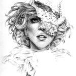 Модные иллюстрации — Леди Гага