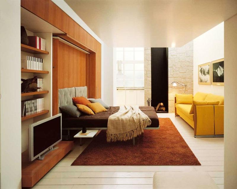 Дизайн комнаты с откидной кроватью