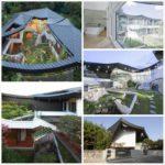 Сад на крыше дома в Южной Корее