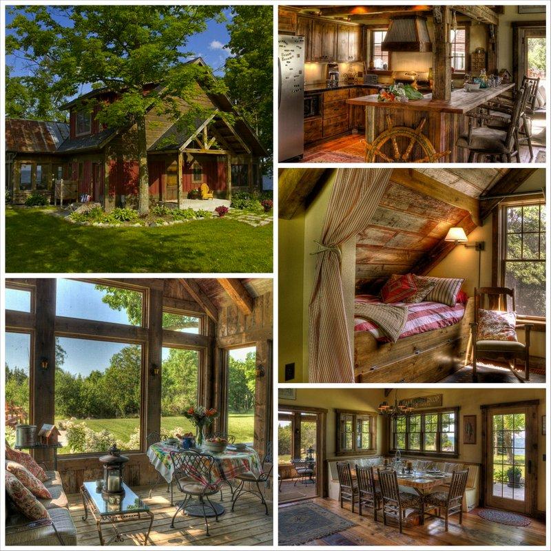 Гармоничный дизайн деревенского дома внутри в стиле шале