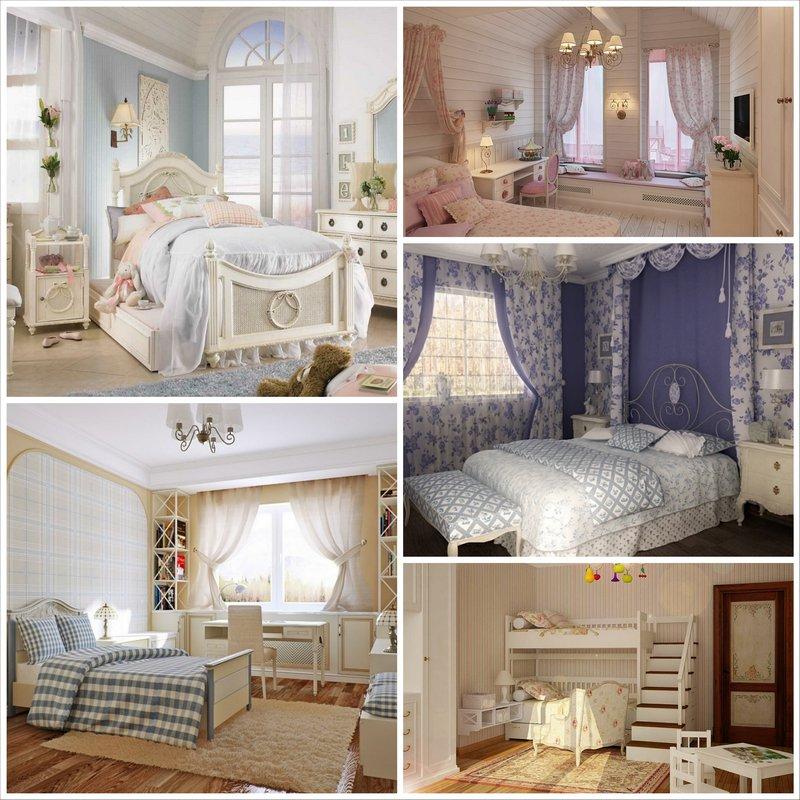 Детская в стиле прованс - волшебная и сказочная комната