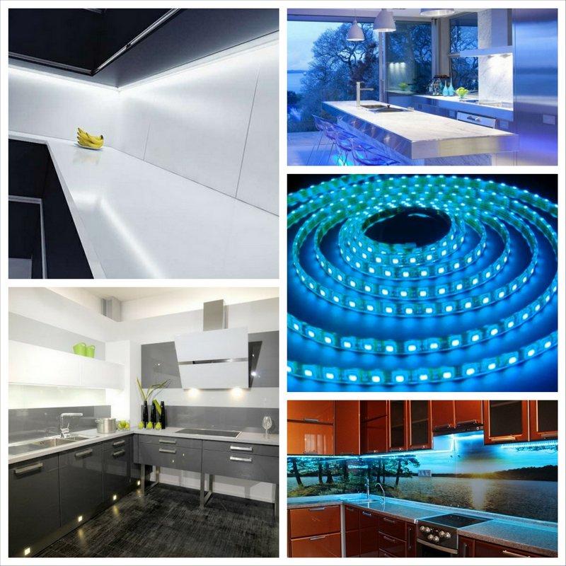 Подсветка кухни светодиодной лентой - особенное оформление
