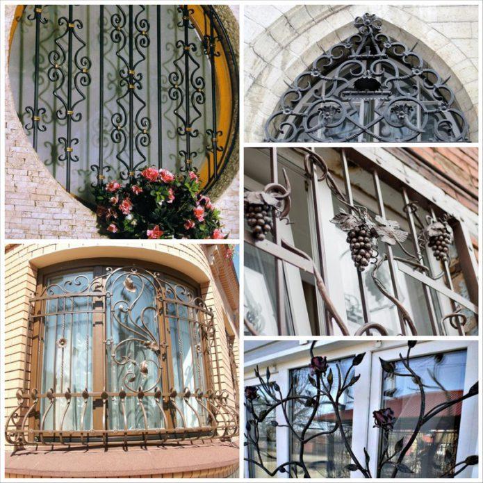 Кованые решетки на окна - красивая и надежная защита