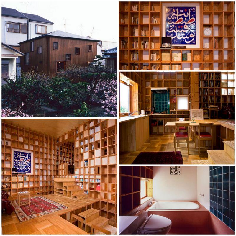 Дом в японском стиле с оригинальным дизайном