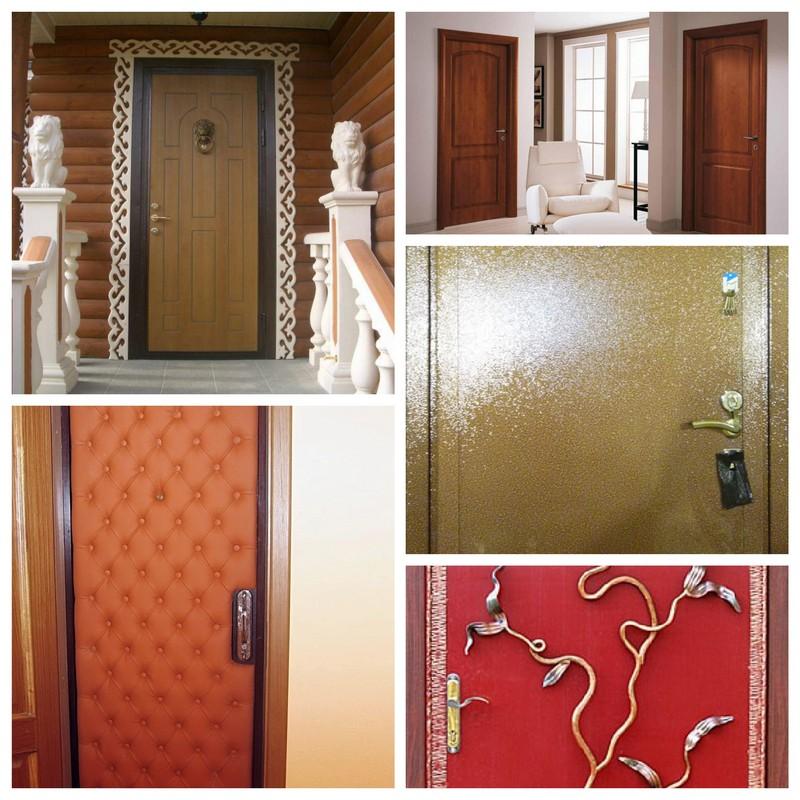 Двери из металла - варианты декорирования