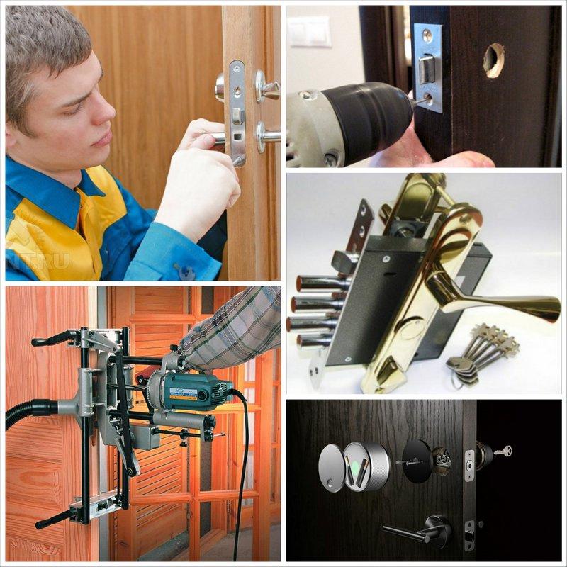 Дверные замки — нюансы процесса установки