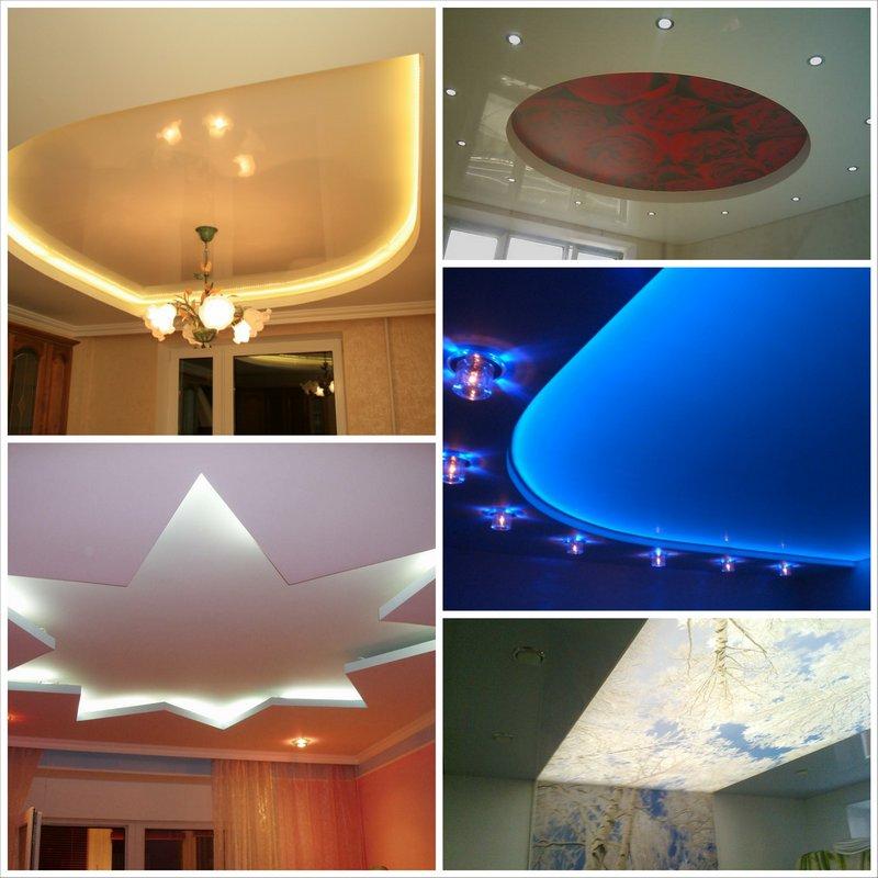 Натяжные потолки с подсветкой - современный дизайн