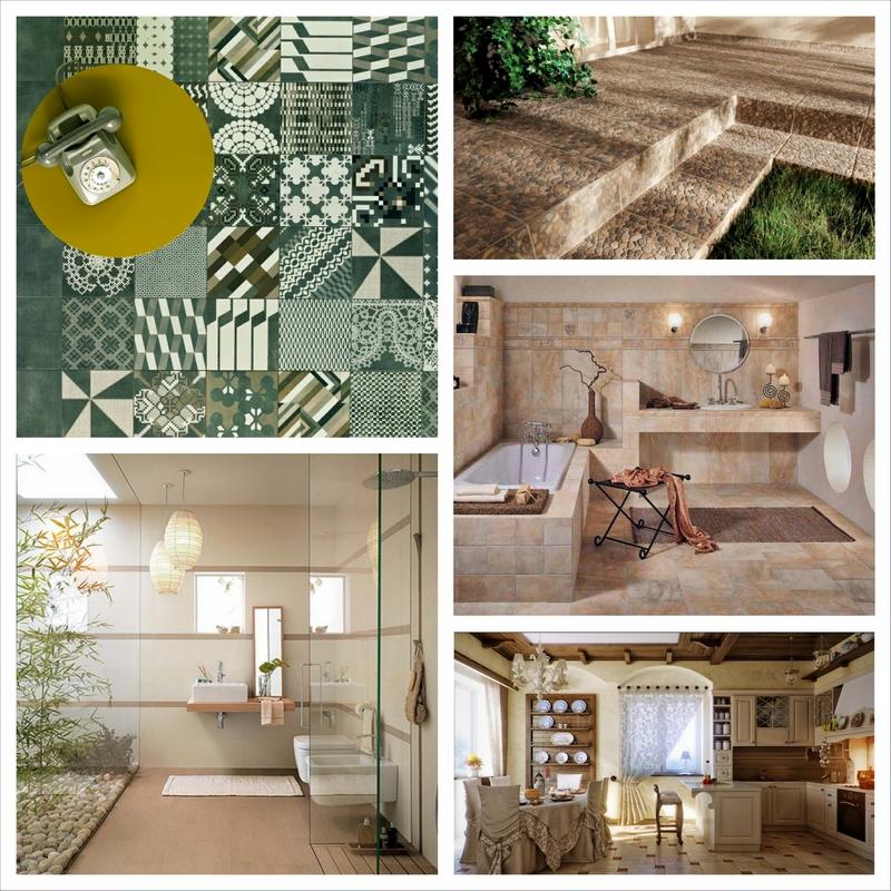 Облицовка стен керамической плиткой - модный тренд