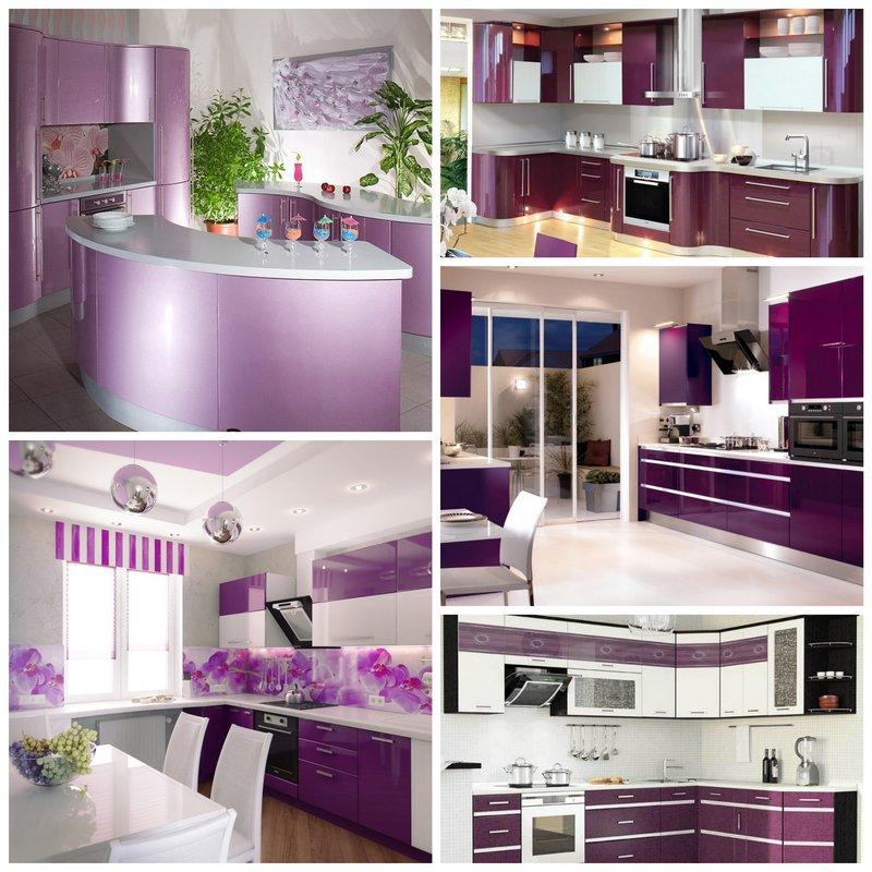 кухни фото в фиолетовом цвете