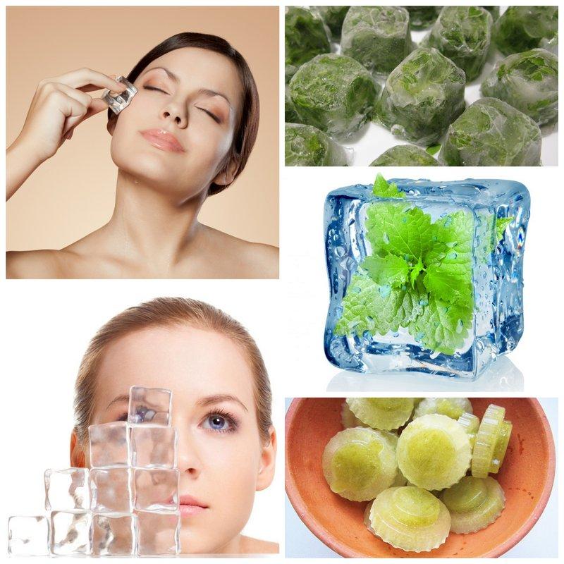 Кубик льда для лица для жирной кожи