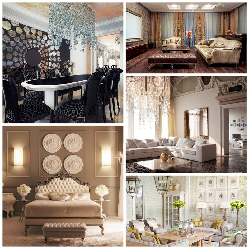 Дизайн интерьера - стиль неоклассика
