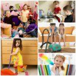 Как приучить ребенка к уборке дома