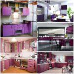Оригинальные кухни в фиолетовых оттенках