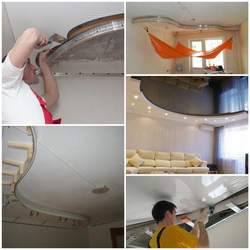 Подвесные и натяжные потолки своими руками 30