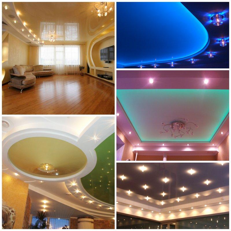 Освещение натяжных потолков в вашем доме