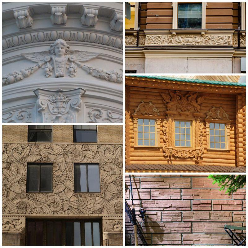 Отделочные материалы для украшения фасадов