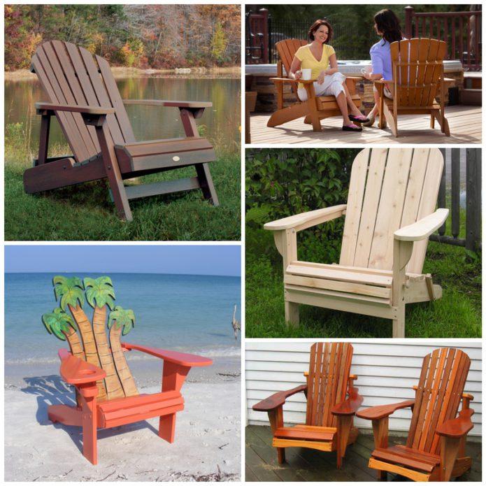 Происхождение садовой мебели - стул Адирондак