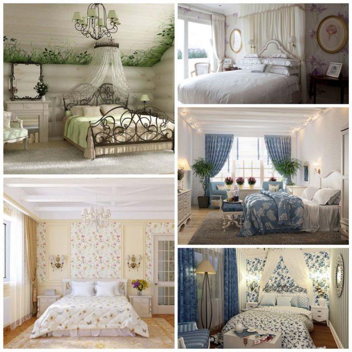Секреты оформления спальни в стиле прованс