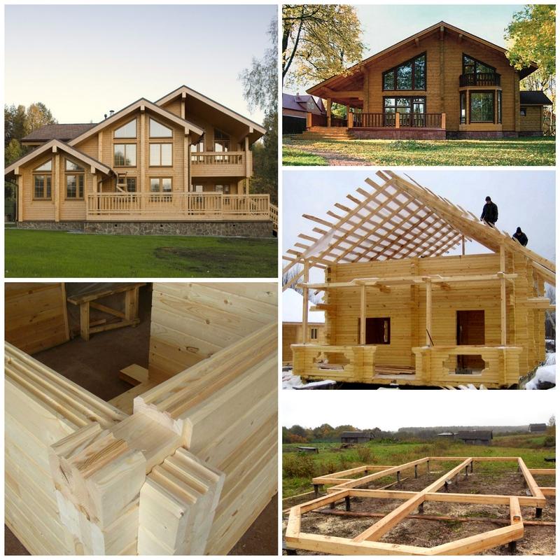 Строительство домов и бруса своими руками фото