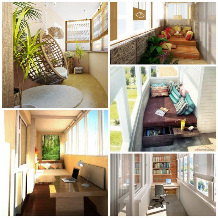 Элегантное обустройство балкона или лоджии