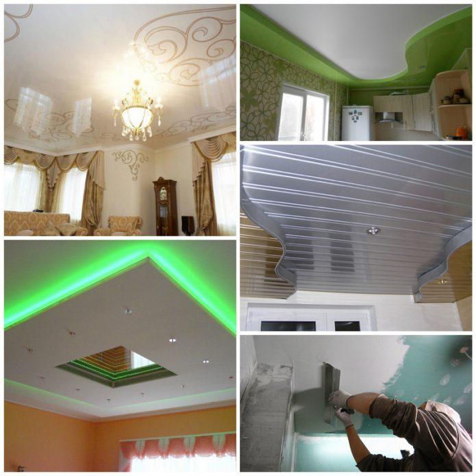 Какой потолок лучше выбрать для себя