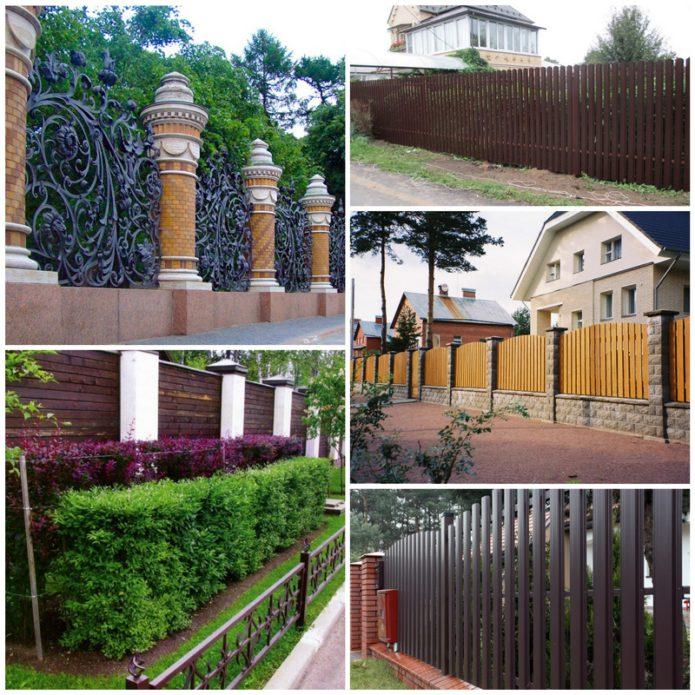 Ограда вокруг загородного дома - его визитная карточка