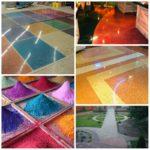 Плюсы цветного бетона