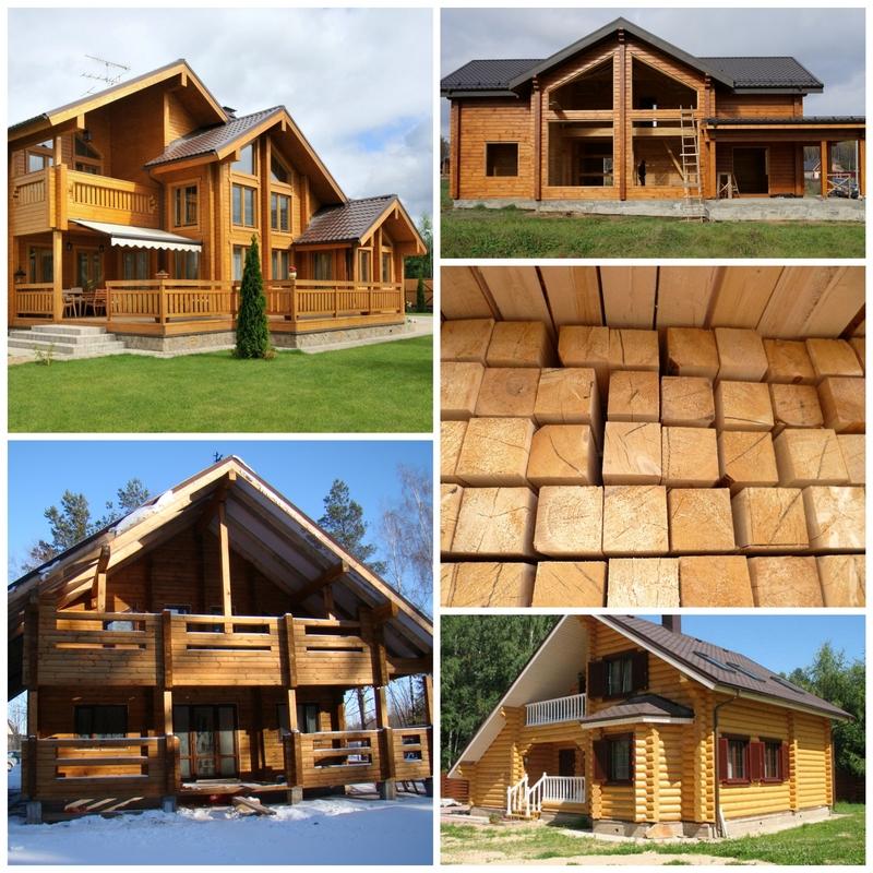 Сосновый брус для нового дома
