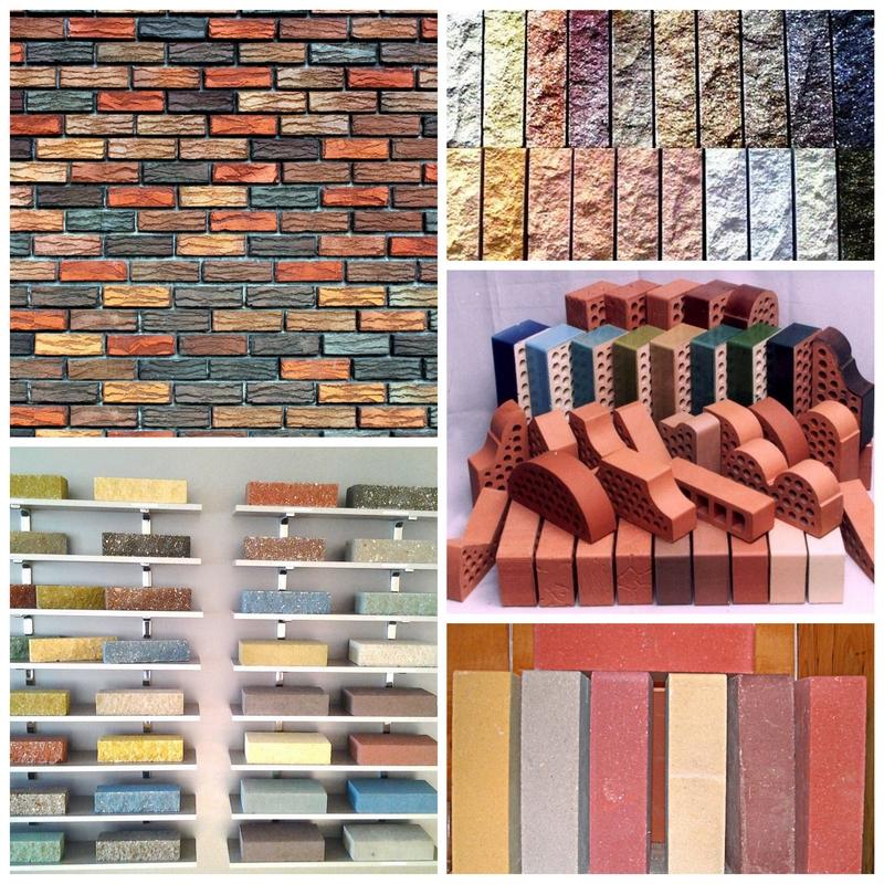 Цветной кирпич - новинка в строительных материалах