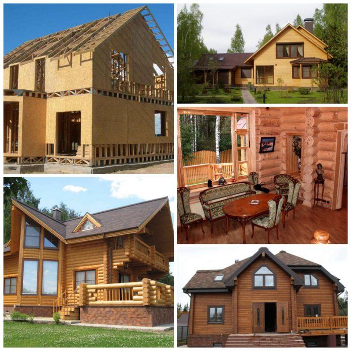 Виды строительства деревянных коттеджей