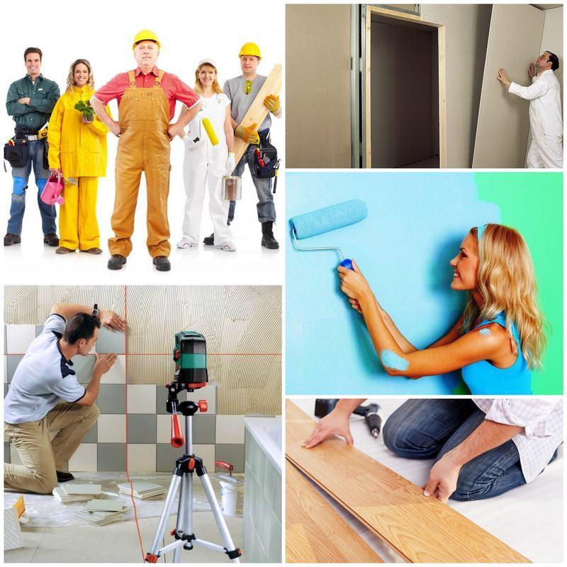 Основные виды отделочных работ для любого ремонта