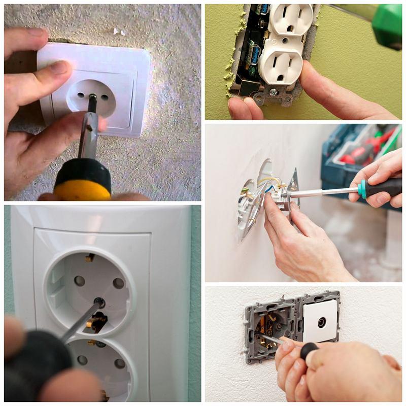 Установка розеток и выключателей своими руками: в гипсокартон и бетонную