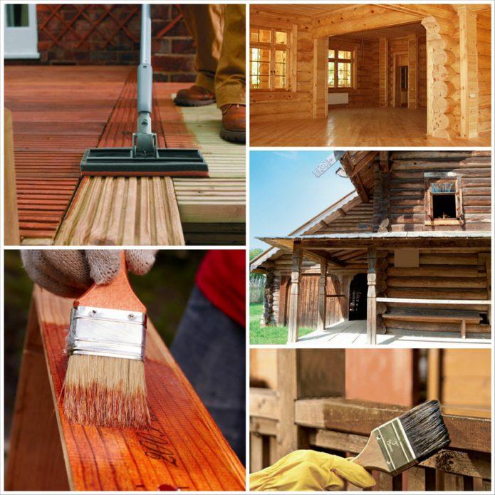 Защитные средства для древесины
