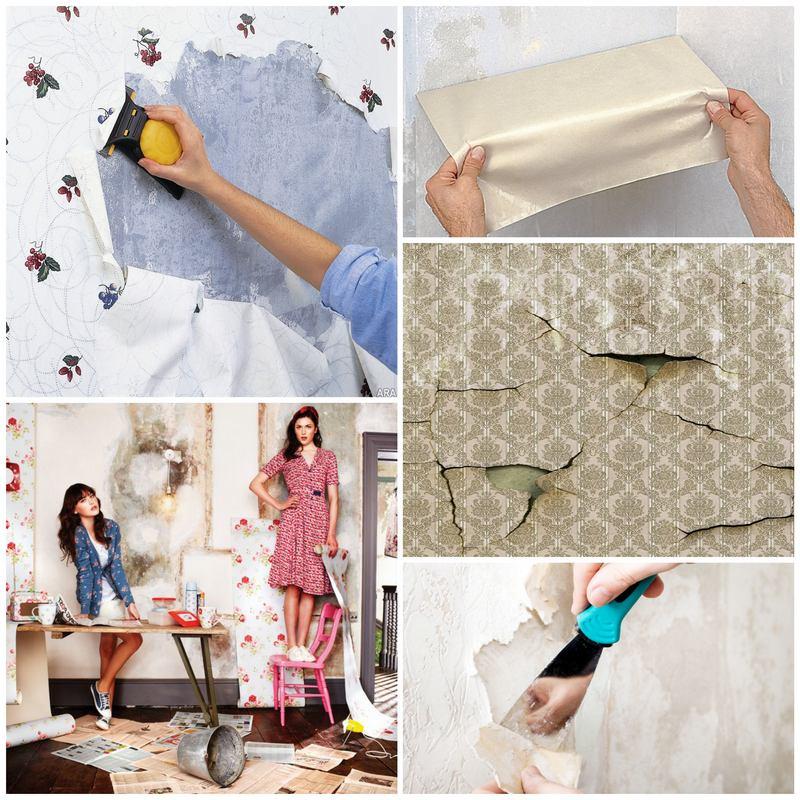 Делаем ремонт - как хорошо очистить стены от обоев