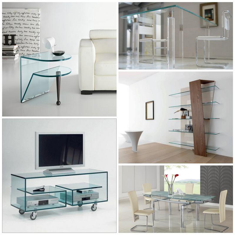 Как обыграть стеклянную мебель в интерьере?