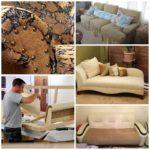 Новый образ старого дивана. Обновляем старую мебель