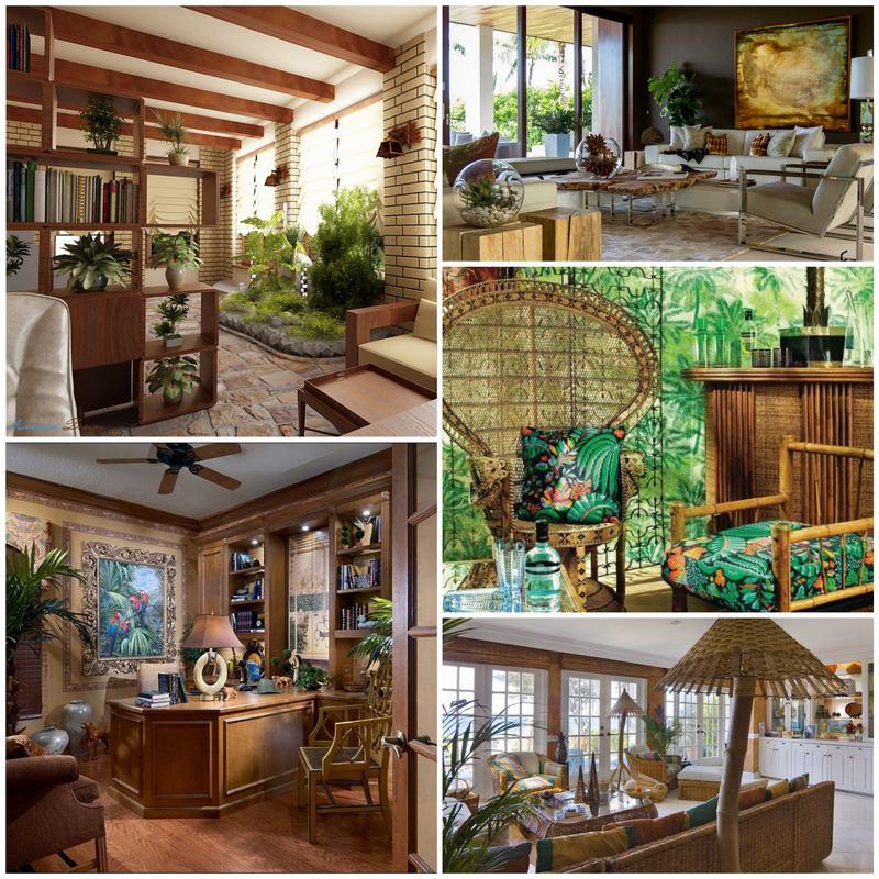 Особенности дизайна квартиры в тропическом стиле
