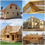 Возведение домов из дерева