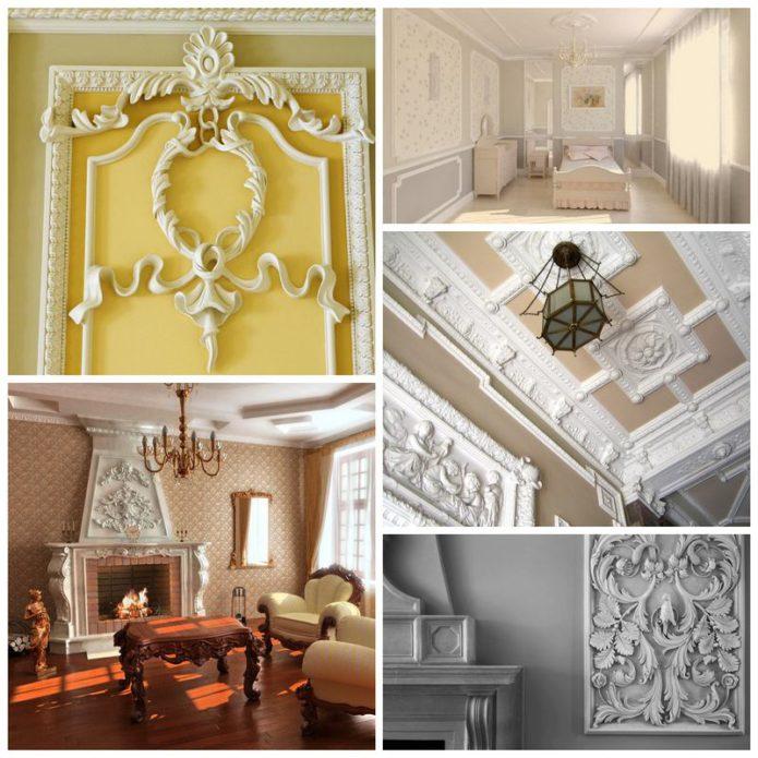 Декоративная лепнина - великолепное украшение нашего дома
