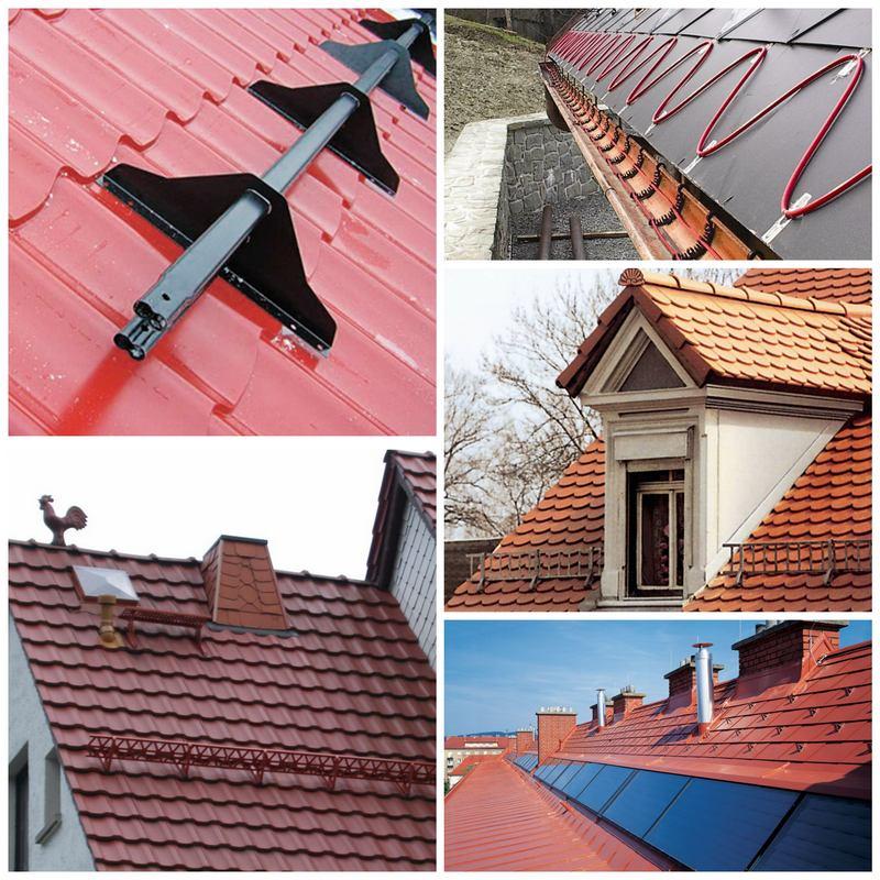 Как сделать снегозащиту на крыше?