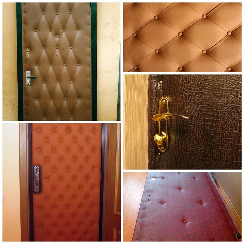 Обивка входной двери дерматином своими руками