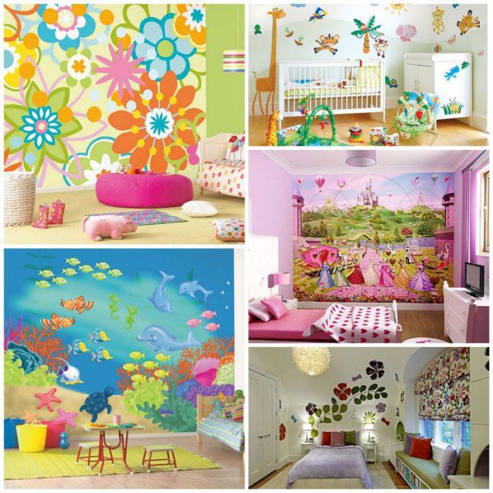 Отделка стен детской комнаты - важный фактор здоровья ребенка