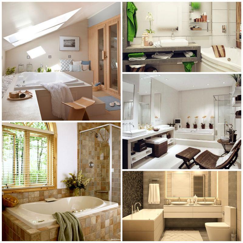 Дизайнерские решения уютной ванной