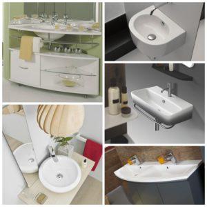 Выбираем форму умывальника для ванной