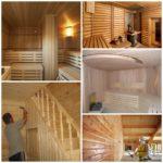 Какие материалы следует использовать во время отделочных работ в бане
