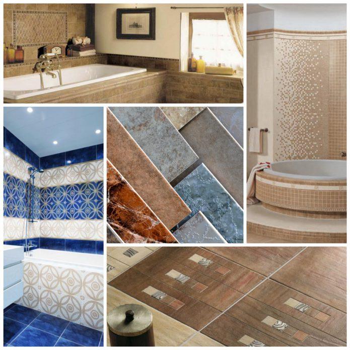 Выбор керамической плитки в ванную комнату