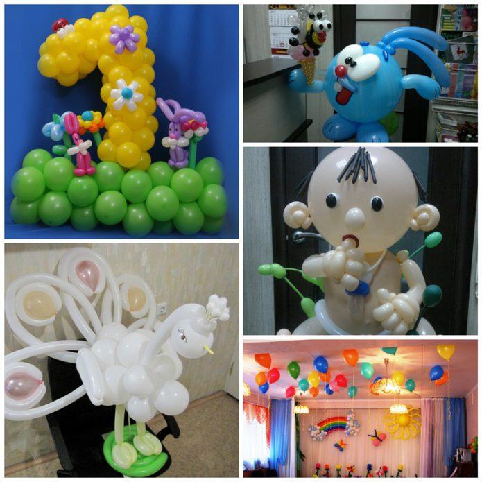 """Подарки из шаров от компании """"Мишкин шарик"""""""