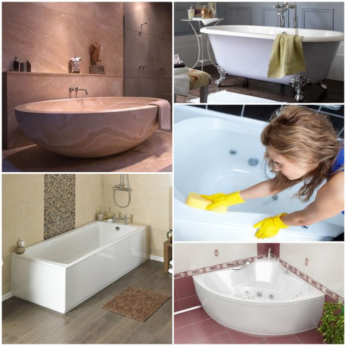 Разновидности покрытия ванн и уход за ними