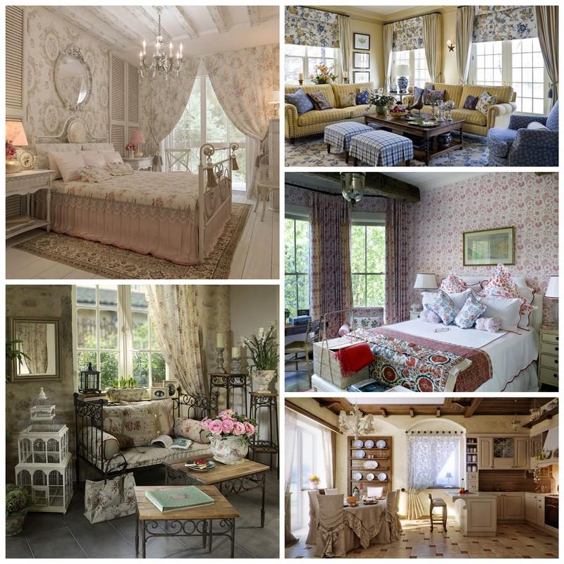 Интерьер дома в стиле Прованс – волшебство и нежность