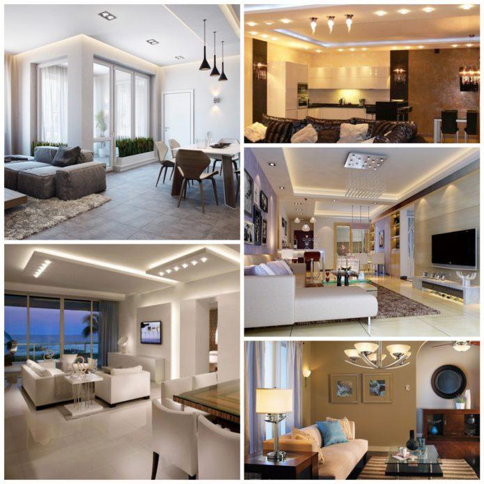 Освещение гостиной - залог комфортного интерьера